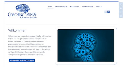 image of coachingminds website